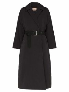 Plan C padded belted coat - Black