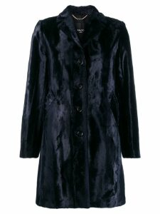 Paltò textured shearling coat - Blue