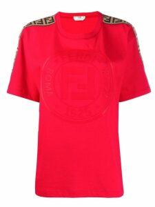 Fendi monogram print T-shirt - Red