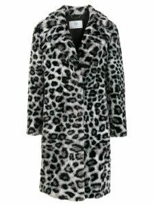Alberta Ferretti leopard pattern coat - White
