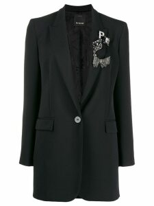 Pinko embellished longline blazer - Black