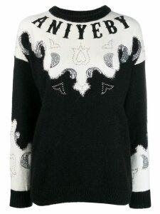 Aniye By embellished logo sweater - Black