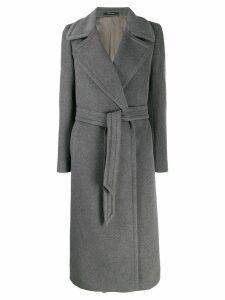 Tagliatore belted robe coat - Grey