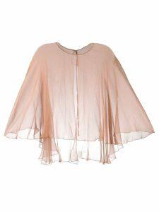 Maria Lucia Hohan silk cape - Neutrals