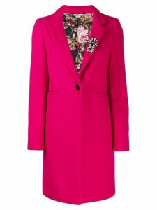 Liu Jo single-breasted midi coat - Pink