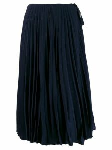 Valentino mini jacquard VLOGO pleated skirt - Blue