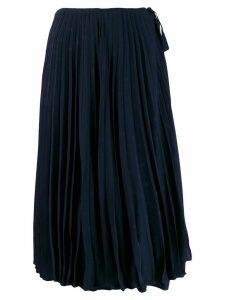 Valentino mini jacquard VLOGO pleated skirt - Blue