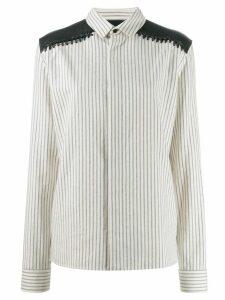 Haider Ackermann long sleeve striped shirt - White