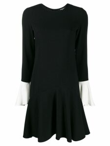Paule Ka contrast cuff dress - Black