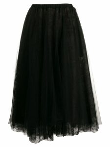 Rochas A-Line flared midi skirt - Black