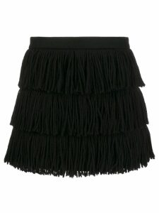 Red Valentino fringed tassel skirt - Black