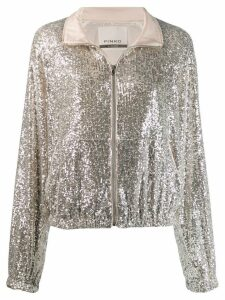 Pinko sequin embroidery jacket - Silver