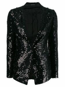 Tagliatore sequin embroidered blazer - Black