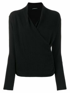 Philo-Sofie wrapped front jumper - Black