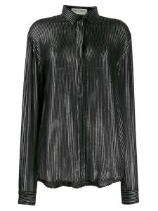 Saint Laurent striped metallic effect shirt - Neutrals
