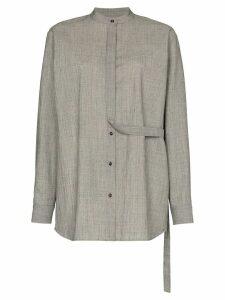 Jil Sander strap detail shirt - Grey