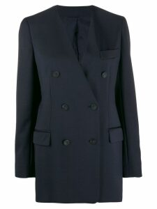 Joseph Daya Faille collarless blazer - Blue