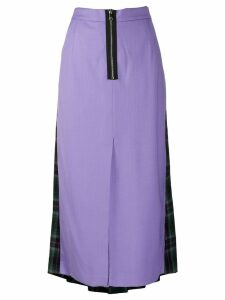 Natasha Zinko contrast pleated skirt - PURPLE
