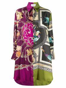 Salvatore Ferragamo heritage print shirt dress - Purple