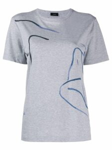 Joseph abstract print T-shirt - Grey