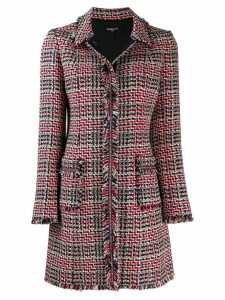 Paule Ka singled breasted tweed coat - Red