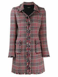 Paule Ka singled breasted tweed coat - Red