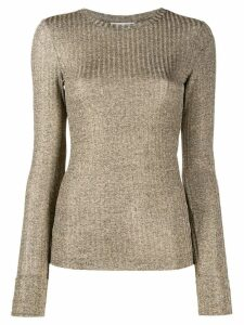 Dondup fitted ribbed top - Neutrals