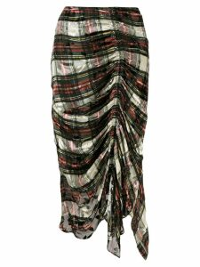 Preen By Thornton Bregazzi tartan gathered skirt - Green