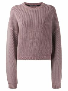 T By Alexander Wang ribbed oversize jumper - Pink