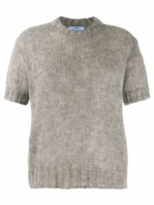 Prada open-knit top - Grey