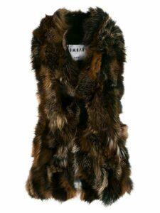 S.W.O.R.D 6.6.44 fur waistcoat - Black