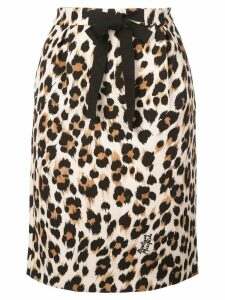 Boutique Moschino leopard print skirt - Brown
