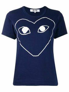 Comme Des Garçons Play front print t-shirt - Blue