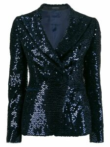 Tagliatore sequin embroidered blazer - Blue