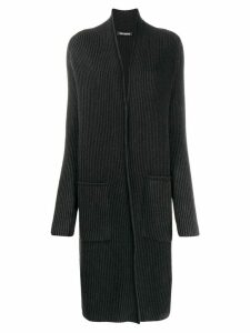 Iris Von Arnim ribbed cardi-coat - Black