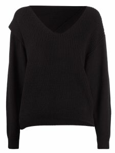T By Alexander Wang ribbed knit sweatshirt - Black