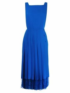 pushBUTTON pleated midi dress - Blue