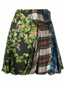 Preen By Thornton Bregazzi print mix skirt - Green
