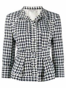 Alexander McQueen houndstooth patterned jacket - Blue