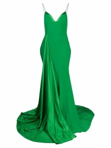 Alex Perry spaghetti straps long dress - Green