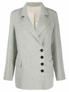 Joseph Lyne diagonal button coat - Grey