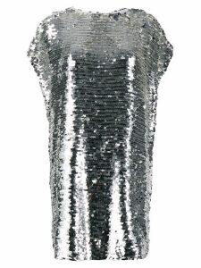 MSGM sleeveless shift mini dress - Silver