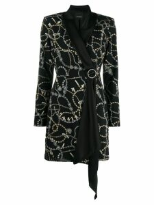 Pinko printed embelishment coat - Black