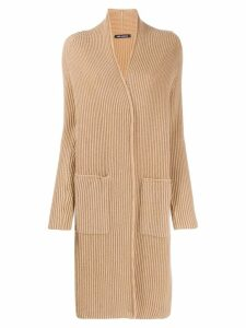 Iris Von Arnim ribbed knit cardigan - Neutrals