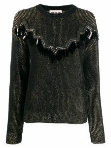 Aniye By embellished knit sweater - Black