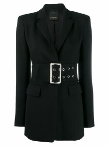 Pinko elongated belted blazer - Black