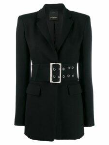 Pinko elongated belted blazer - Black