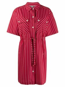 McQ Alexander McQueen drawstring waist dress - Red