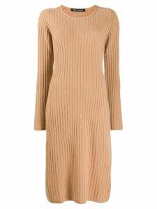 Iris Von Arnim round neck sweater dress - Neutrals