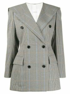 pushBUTTON check print blazer - Grey